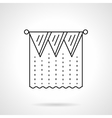 Pelmet curtain flat line icon vector image vector image
