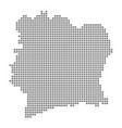 pixel map of ivory coast dotted map of ivory vector image vector image