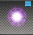 realistic violet supernova explosion on vector image