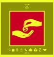 receiving money icon vector image
