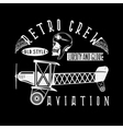 retro aviation design with skullairplane and wings vector image vector image