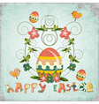 retro design easter card vector image