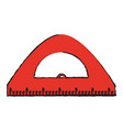 ruler school supply icon image vector image vector image