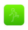 running man icon outline style vector image