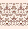 seamless linear flower pattern on beige background vector image vector image