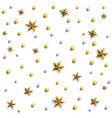 seamless pattern with black stars on a white vector image vector image