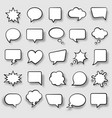 set comic speech bubbles cartoon vector image vector image