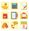 set of flat icons for web design vector image vector image