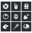 Set of Search and Rescue service Icons vector image vector image