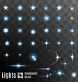Set of stars shining vector image vector image