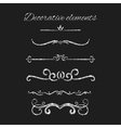 Silver text dividers set Ornamental decorative vector image vector image