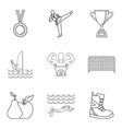 sport lifestyle icons set outline style vector image vector image