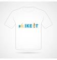 T-shirt with funny print vector image
