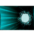 turquoise abstract background vector image vector image