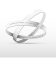 Two white rings vector image vector image