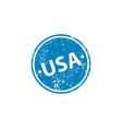 usa stamp texture rubber cliche imprint web vector image