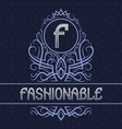 vintage label design template for fashionable vector image vector image