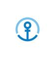 woman gender anchor circle sign logo design vector image