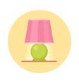 Cute flat nigh light icon Cartoon geometric lamp vector image