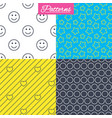 stars hearts and smile circles textures vector image