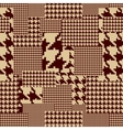 Brown houndstooth vector image