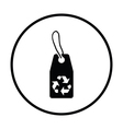Tag with recycle sign icon vector image