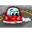 funny retro car cartoon vector image