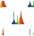 Seamless - LED light range graph vector image