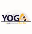 21 june international yoga day banner vector image