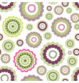 abstract floral geometric seamless pattern circle vector image