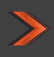 abstract orange arrow direction on grey design