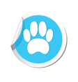 animal footstep BLUE LABEL vector image vector image