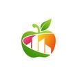 apple building real estate logo symbol icon vector image vector image