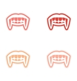assembly sticker vampire bright smile on white vector image vector image