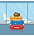 Baggage in airport vector image