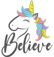 believe isolated on white background vector image vector image