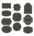 Big elegant frame set vector image vector image