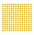 big set of emoticons flat design avatars vector image vector image