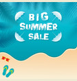 big summer sale banner design vector image