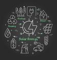 black linear banner solar energy vector image vector image
