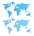blue wavy world map vector image vector image