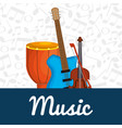 bongo drum with instruments vector image