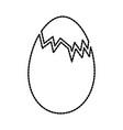 broken chicken egg food farm vector image