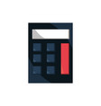 calculator office work business equipment icon vector image