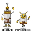 Cartoon Robots Set vector image
