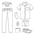 cartoon set men clothes vector image vector image