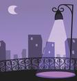 city night scene vector image