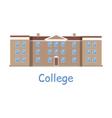 College Building Icon vector image vector image