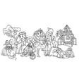 coloring cartoon children vector image