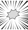 comics flash explosion radial lined superhero vector image vector image